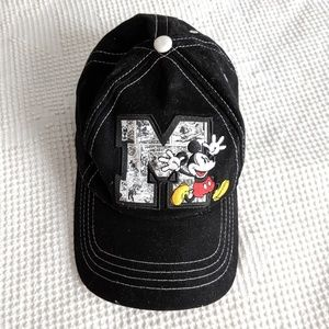 Disney Comic Mickey Black and White Baseball Cap